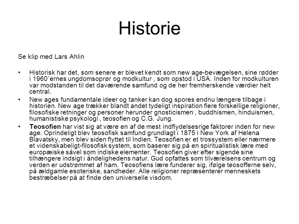 Historie Se klip med Lars Ahlin
