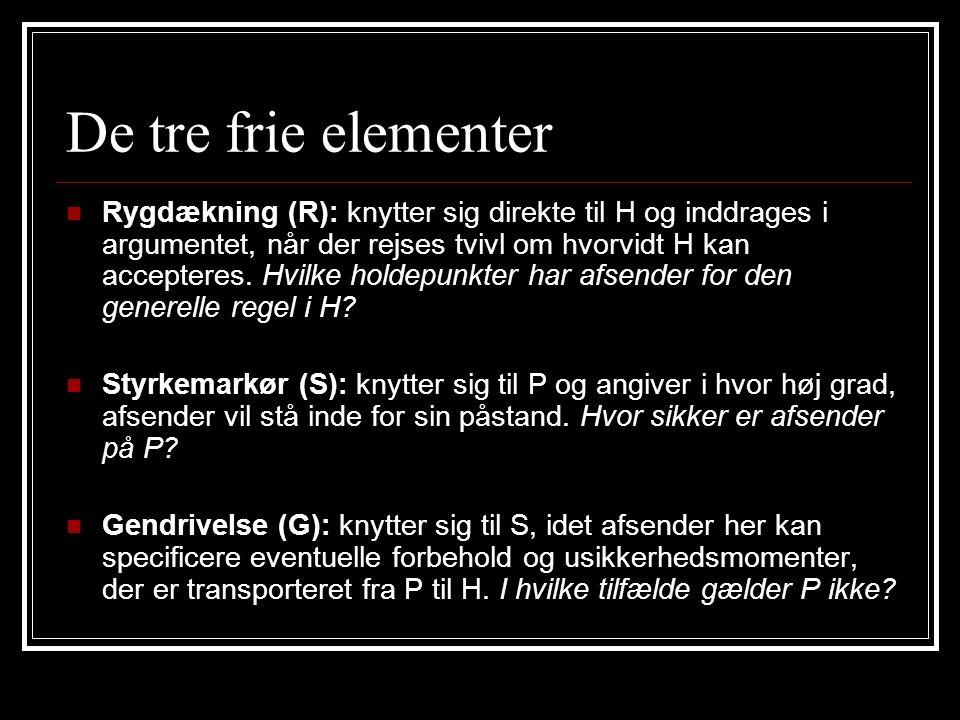 De tre frie elementer