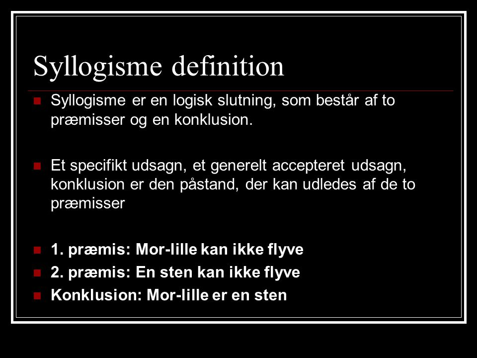 Syllogisme definition