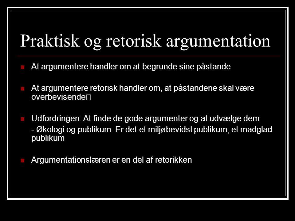 Praktisk og retorisk argumentation