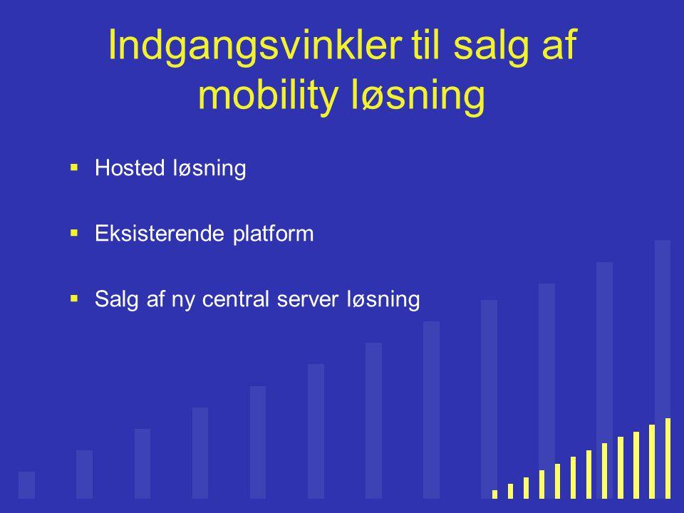 Indgangsvinkler til salg af mobility løsning