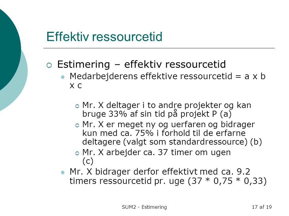 Effektiv ressourcetid