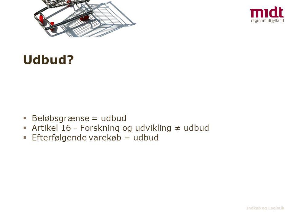 Udbud Beløbsgrænse = udbud