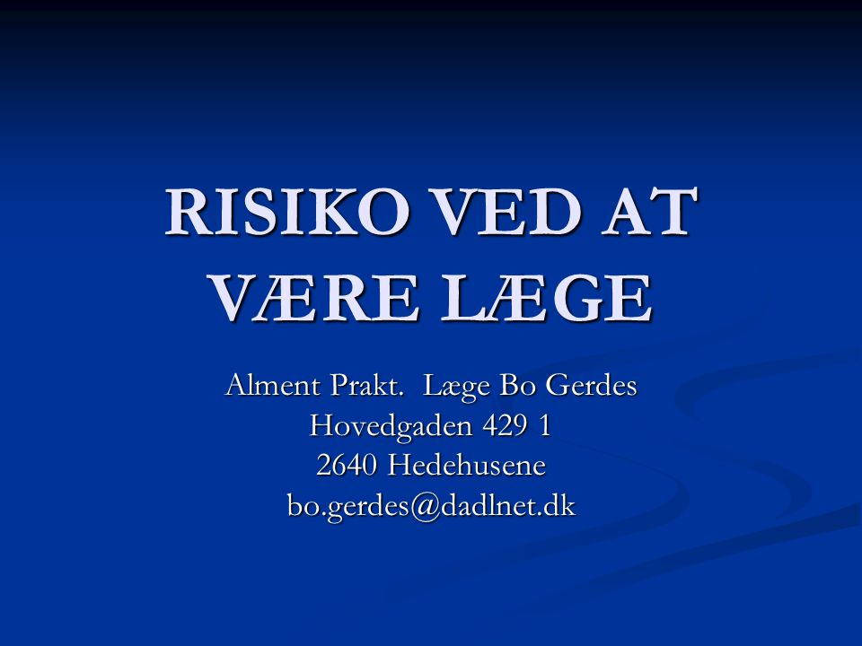Alment Prakt. Læge Bo Gerdes