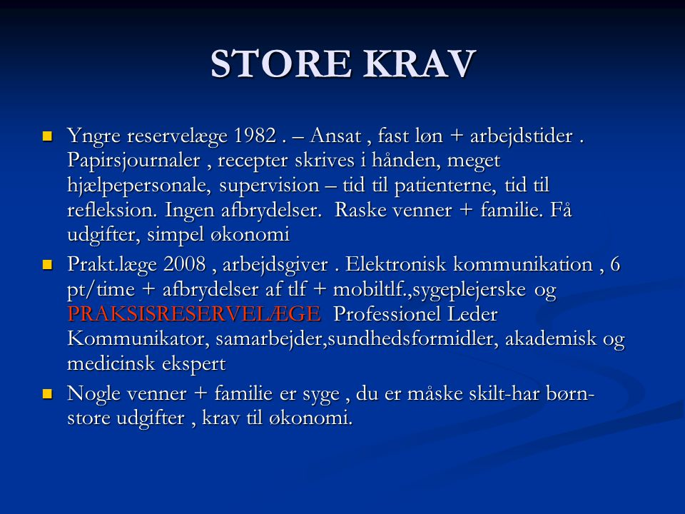STORE KRAV