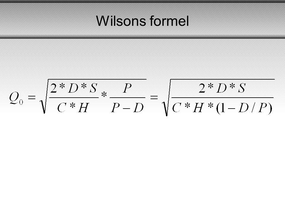 Wilsons formel