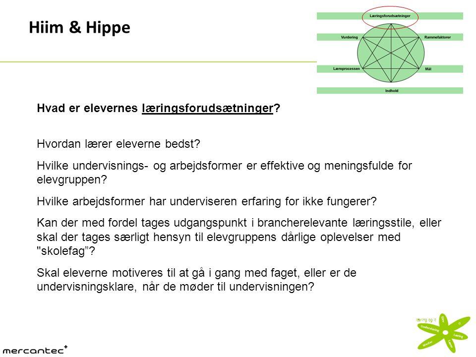 Hiim & Hippe Hvad er elevernes læringsforudsætninger