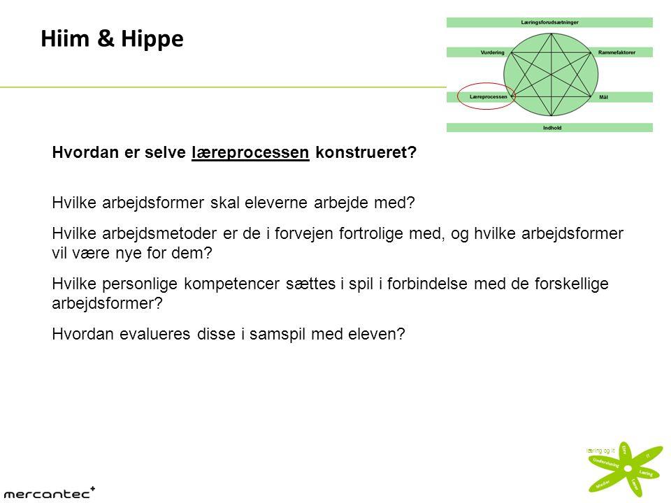 Hiim & Hippe Hvordan er selve læreprocessen konstrueret