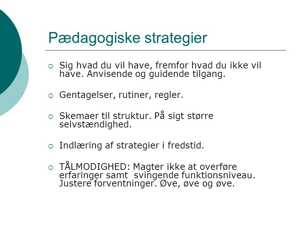 Pædagogiske strategier
