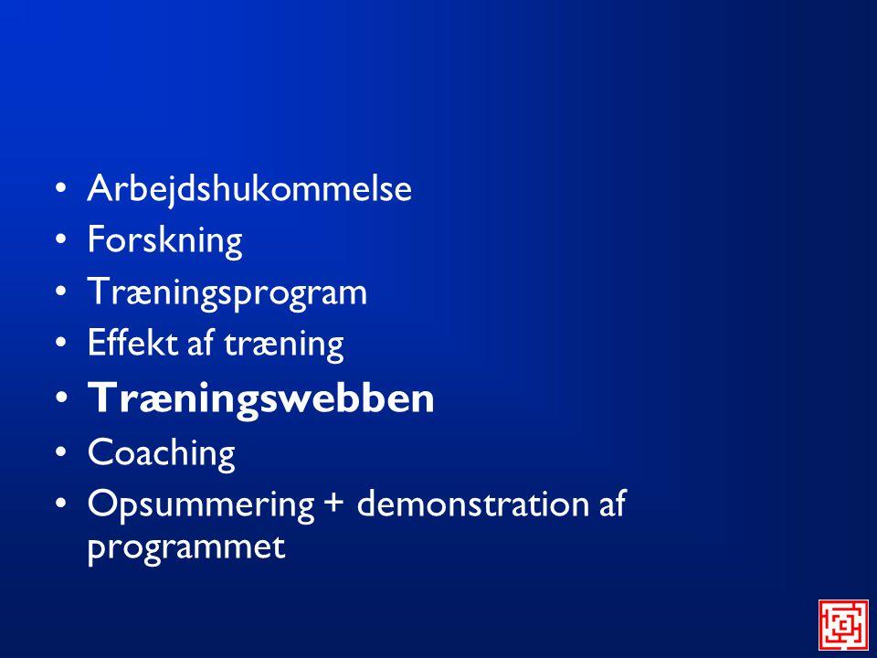 Træningswebben Arbejdshukommelse Forskning Træningsprogram
