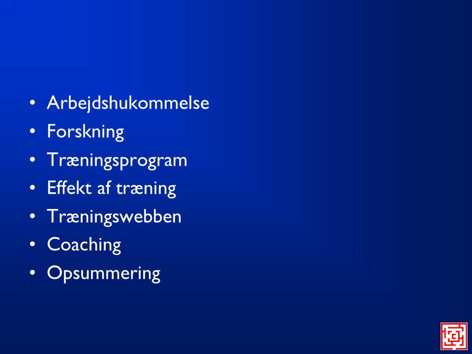 Arbejdshukommelse Forskning Træningsprogram Effekt af træning Træningswebben Coaching Opsummering