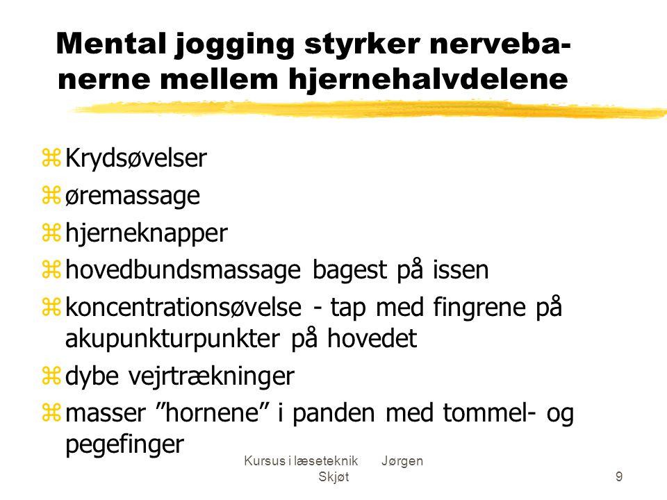 Mental jogging styrker nerveba-nerne mellem hjernehalvdelene