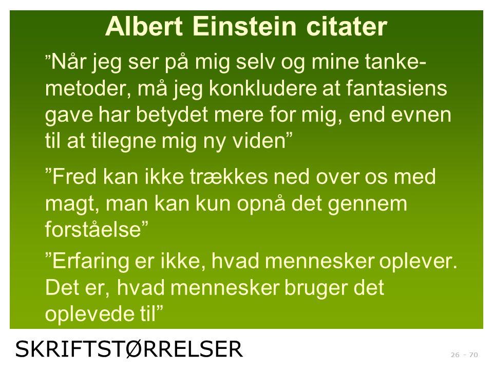 Albert Einstein citater