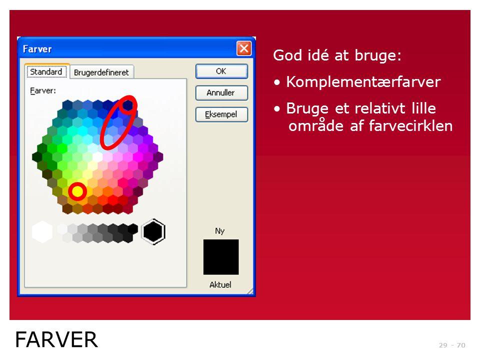FARVER God idé at bruge: Komplementærfarver