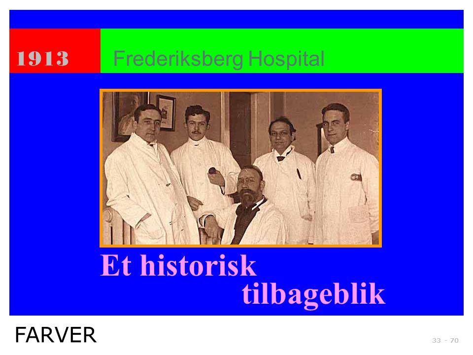 Et historisk tilbageblik 1913 Frederiksberg Hospital FARVER