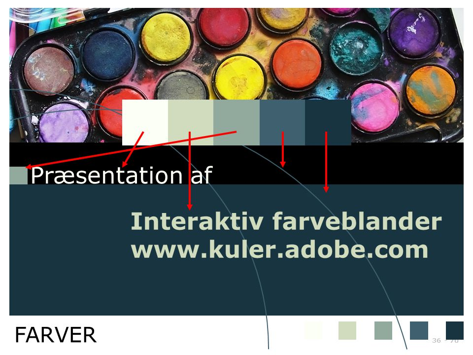 Interaktiv farveblander www.kuler.adobe.com