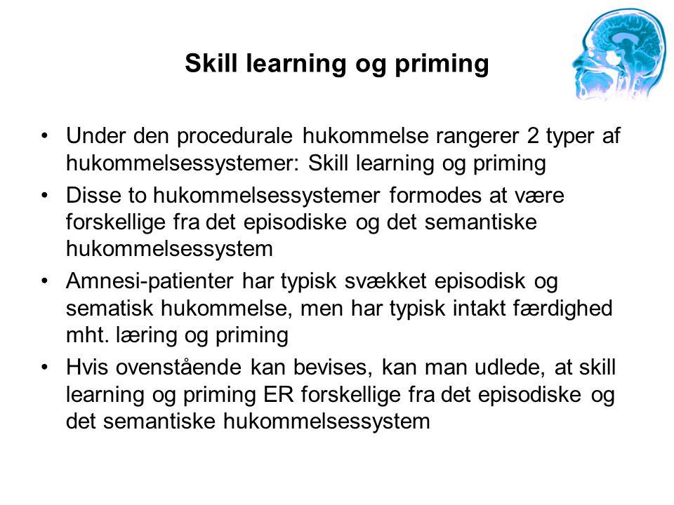 Skill learning og priming