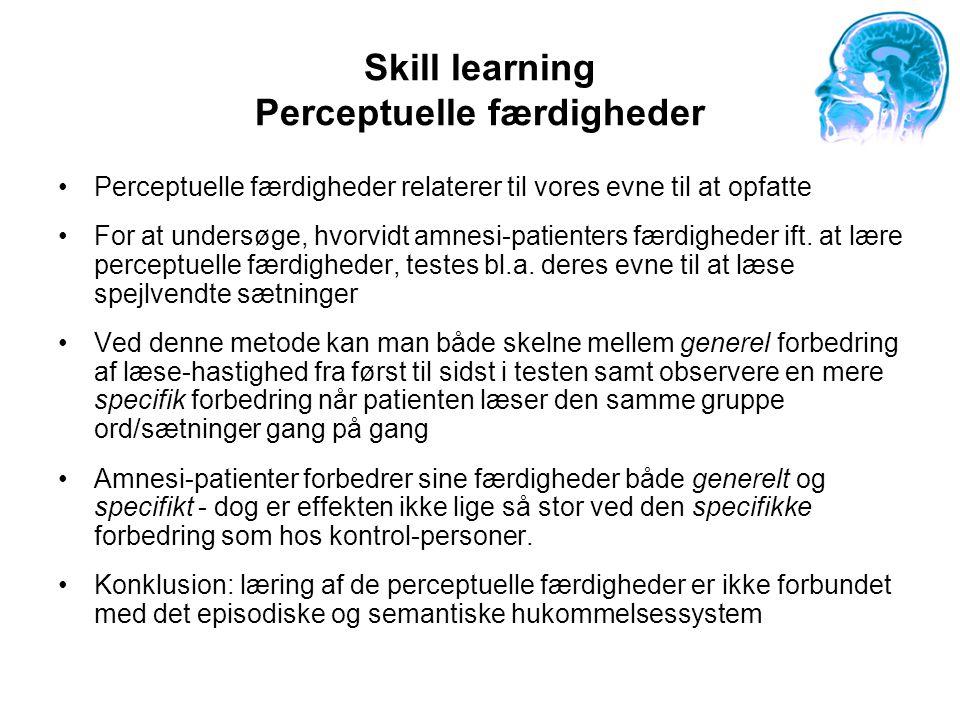 Skill learning Perceptuelle færdigheder
