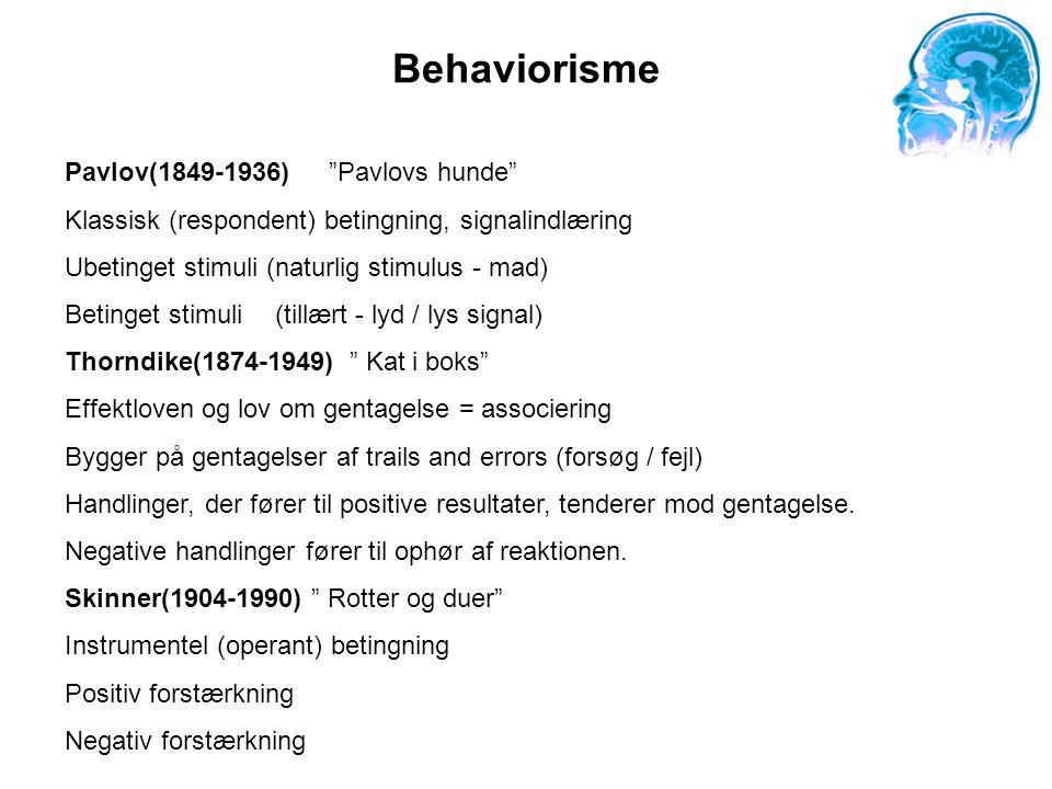 Behaviorisme Pavlov(1849-1936) Pavlovs hunde