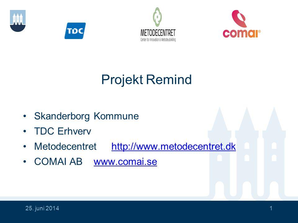 Projekt Remind Skanderborg Kommune TDC Erhverv