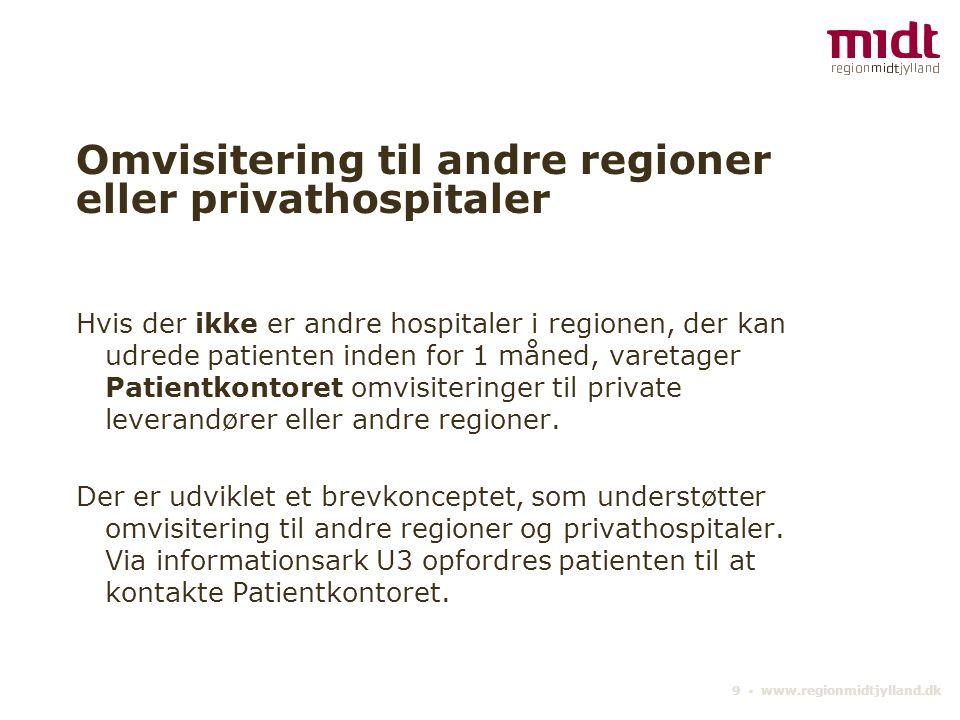 Omvisitering til andre regioner eller privathospitaler