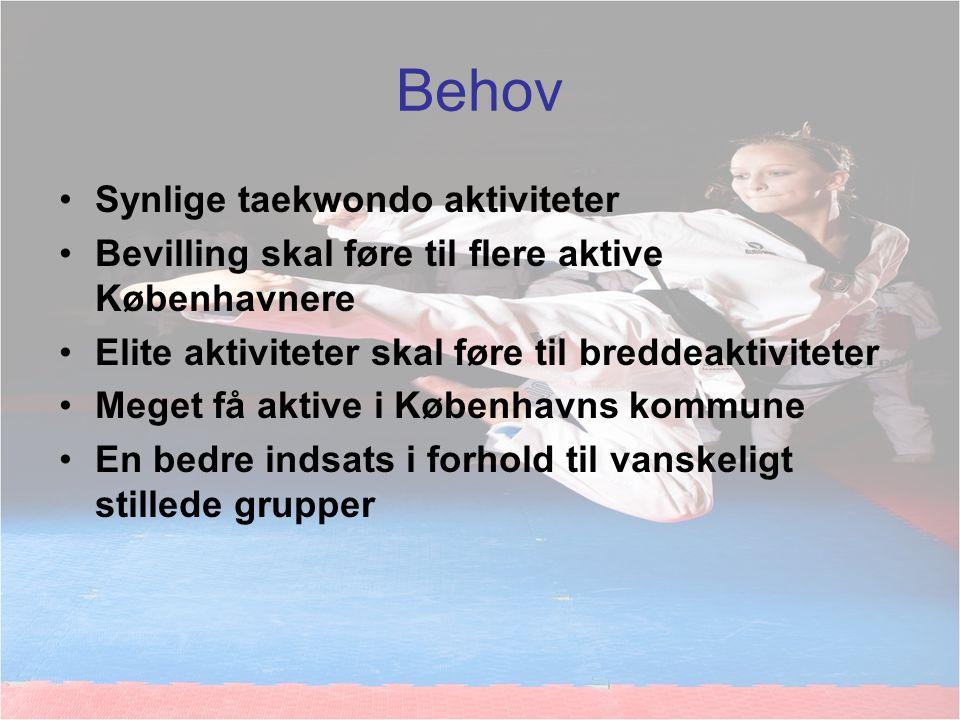 Behov Synlige taekwondo aktiviteter