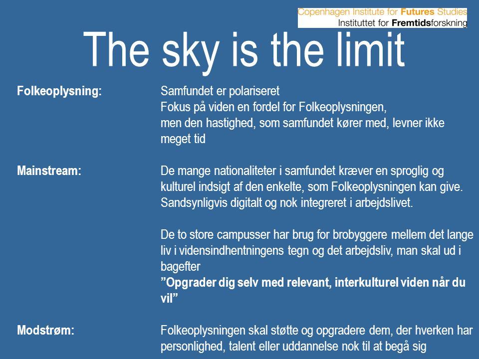 The sky is the limit Folkeoplysning: Samfundet er polariseret
