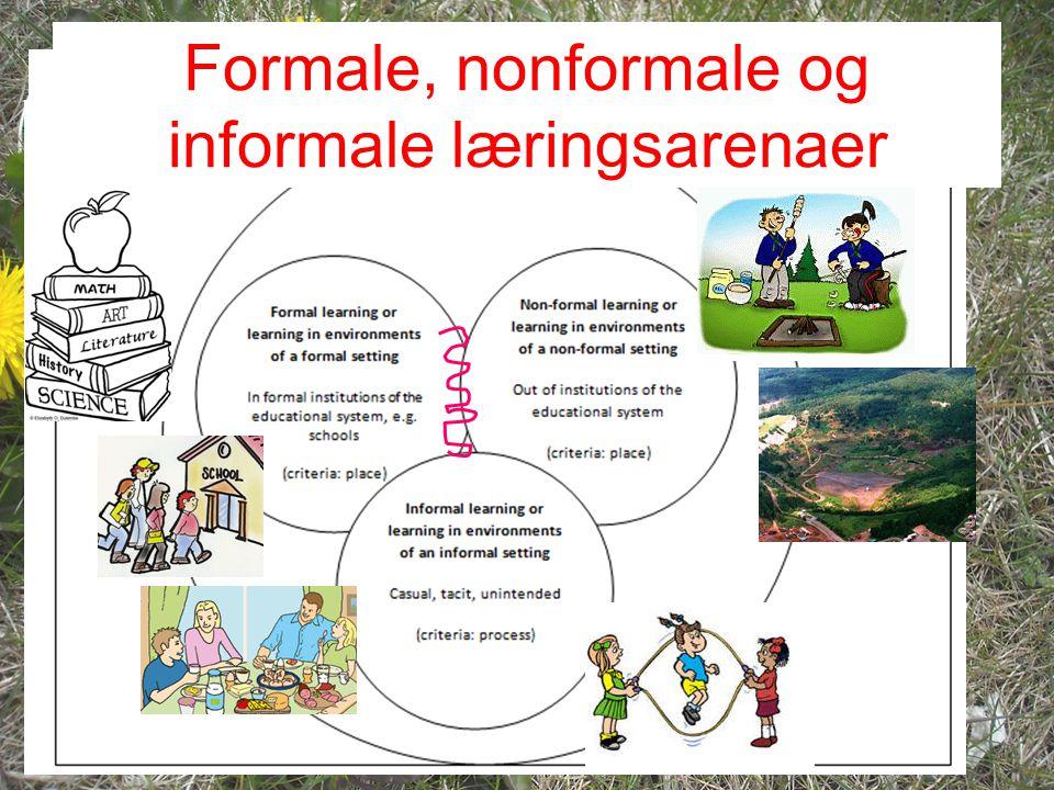 Formale, nonformale og informale læringsarenaer