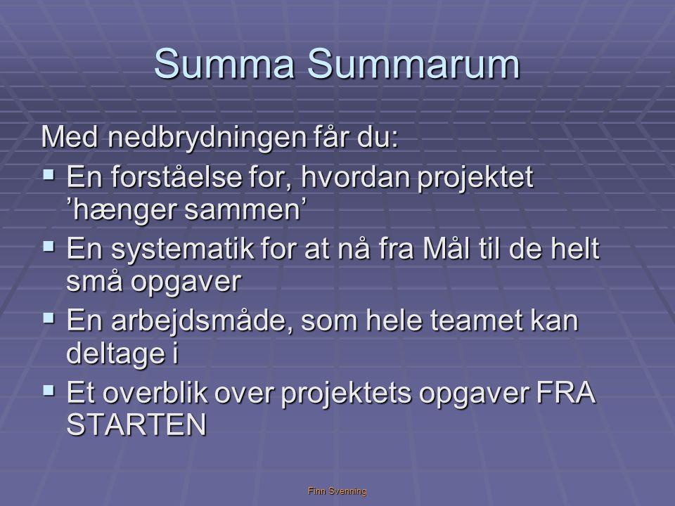 Summa Summarum Med nedbrydningen får du: