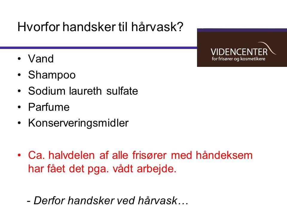 Hvorfor handsker til hårvask