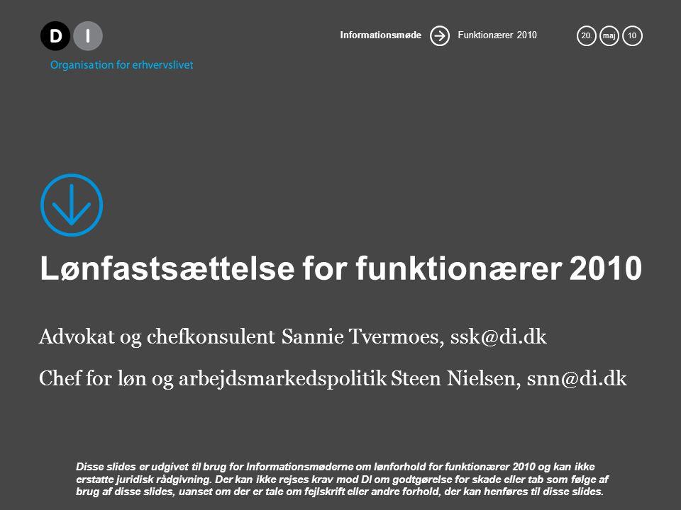Lønfastsættelse for funktionærer 2010