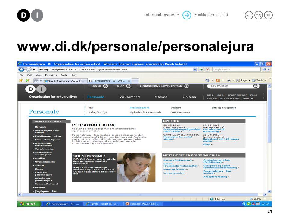 www.di.dk/personale/personalejura Hjemmesiden - mange informationer - svært at finde rundt bliver bedre!
