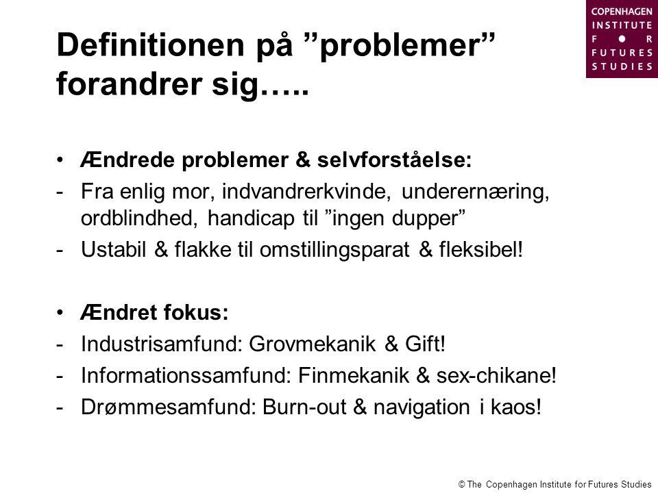 Definitionen på problemer forandrer sig…..