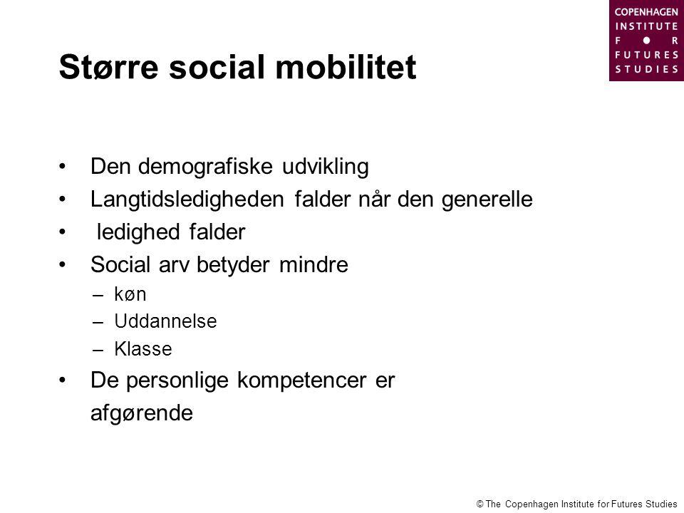 Større social mobilitet