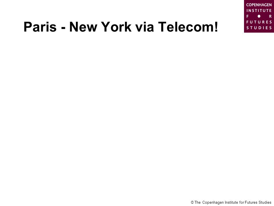 Paris - New York via Telecom!