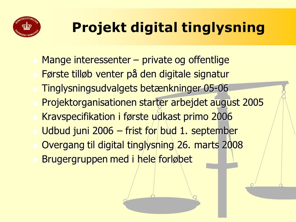 Projekt digital tinglysning