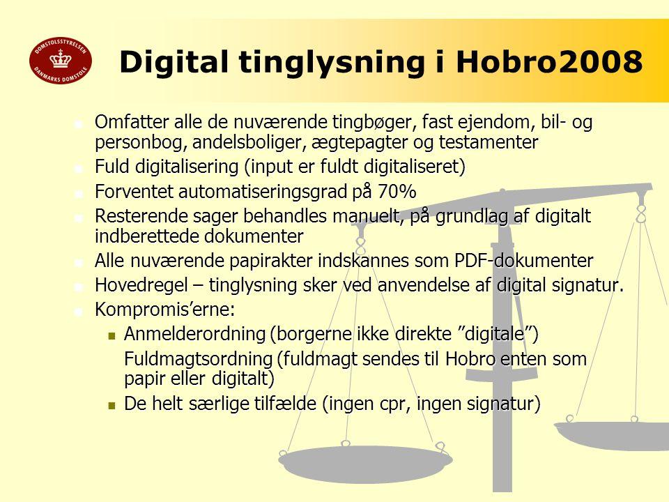 Digital tinglysning i Hobro2008