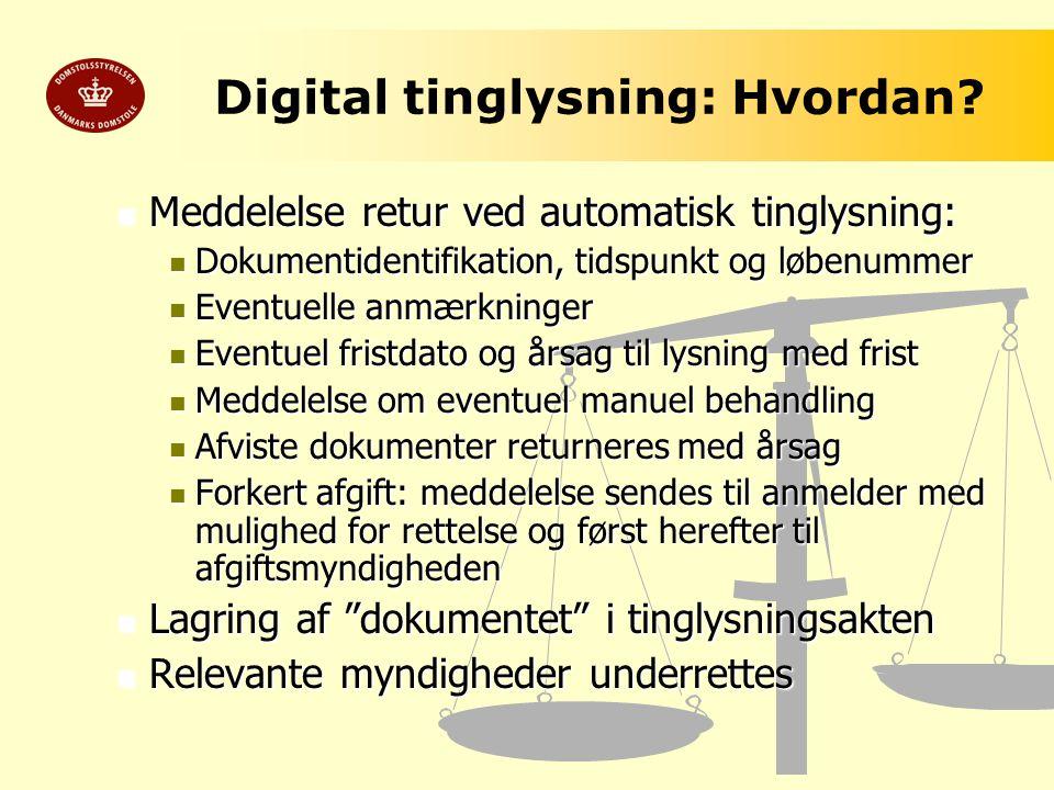 Digital tinglysning: Hvordan