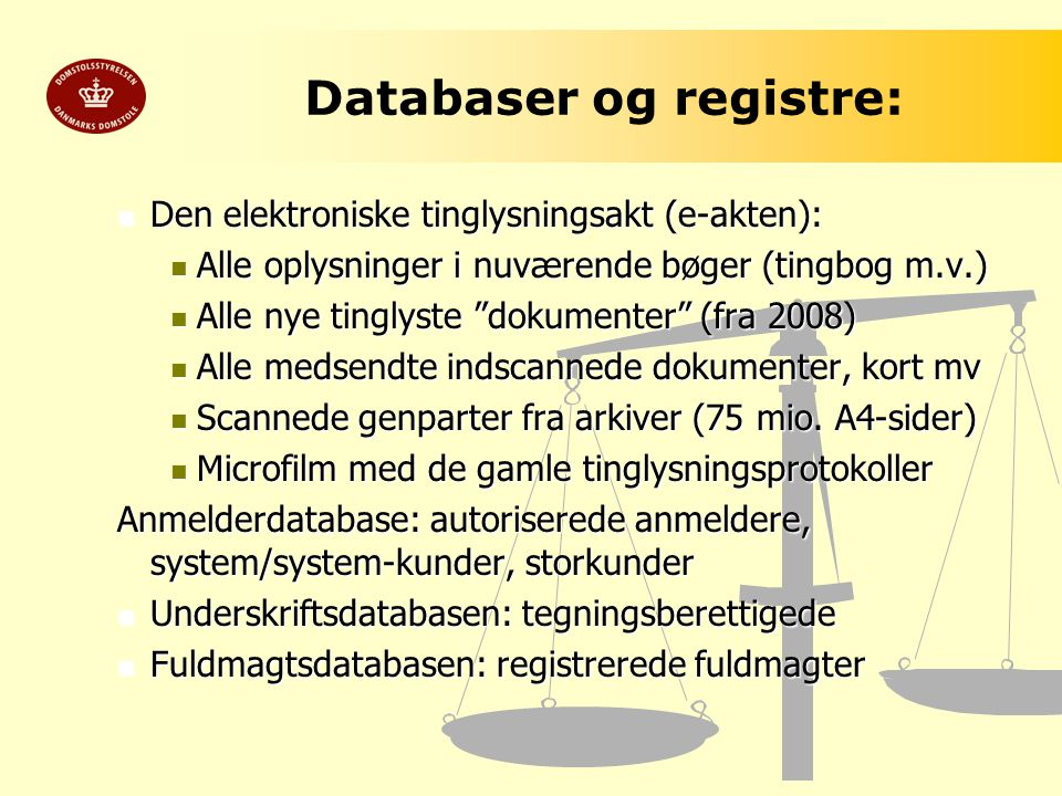 Databaser og registre: