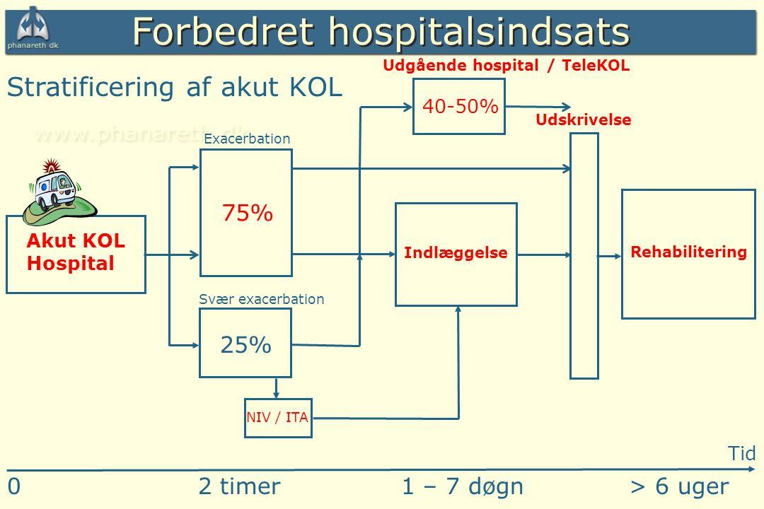 Forbedret hospitalsindsats