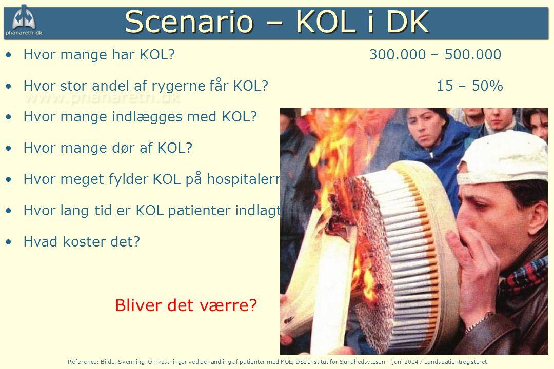 Scenario – KOL i DK Bliver det værre