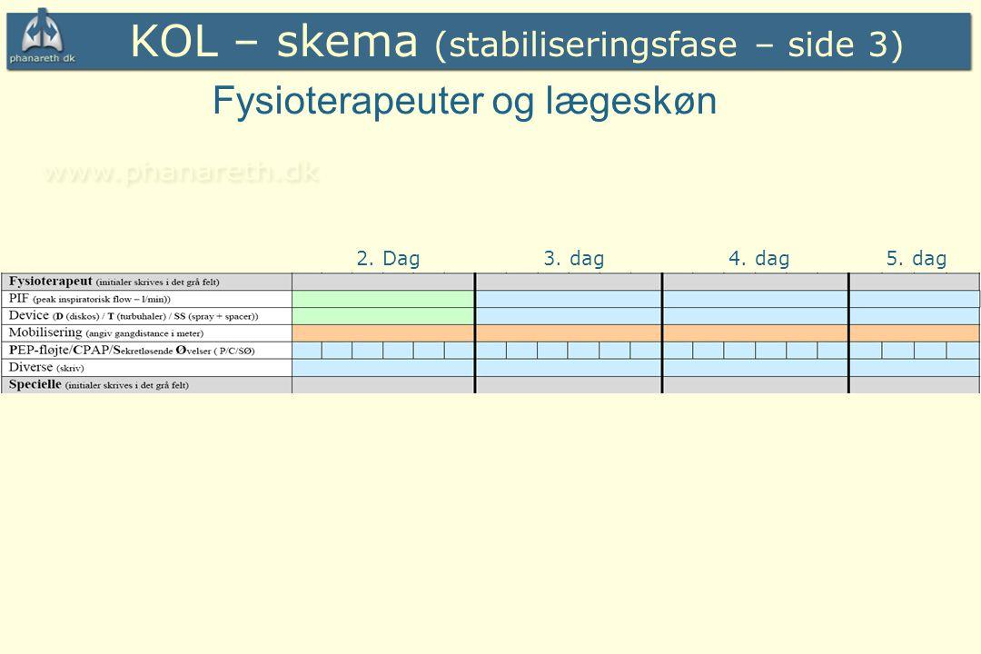 KOL – skema (stabiliseringsfase – side 3)