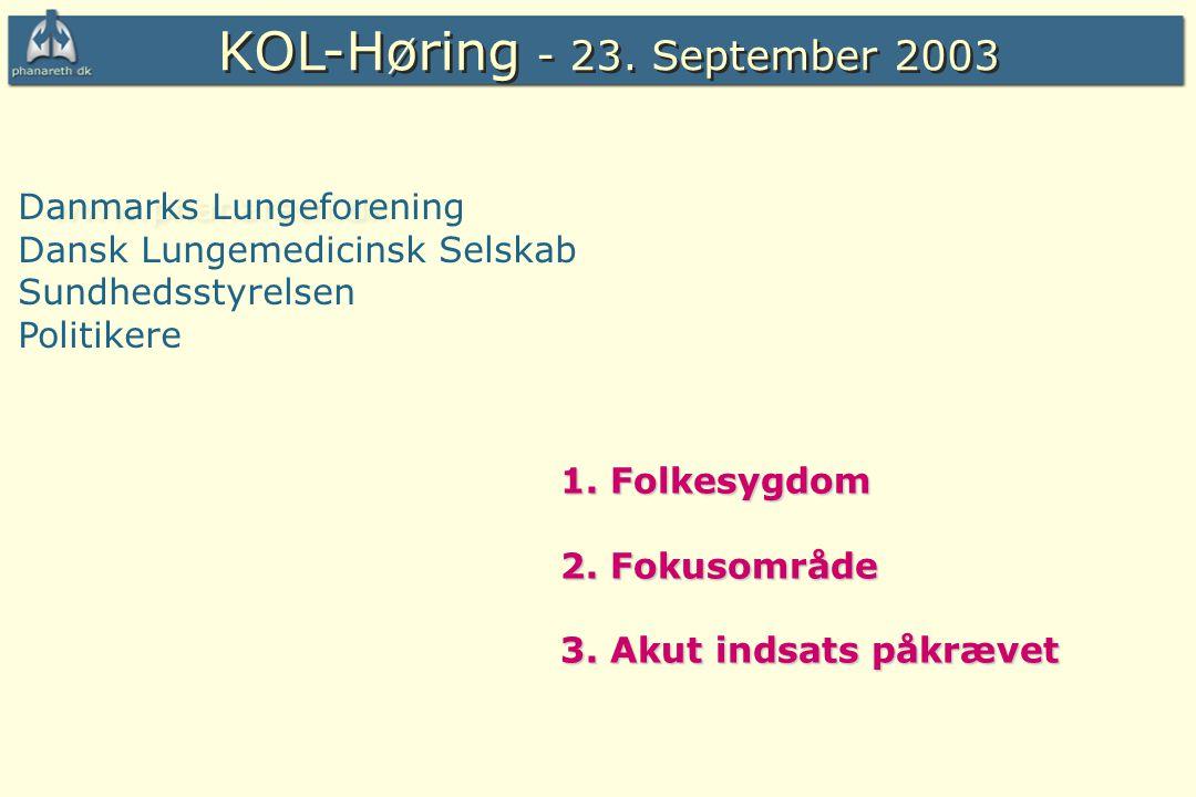 KOL-Høring - 23. September 2003