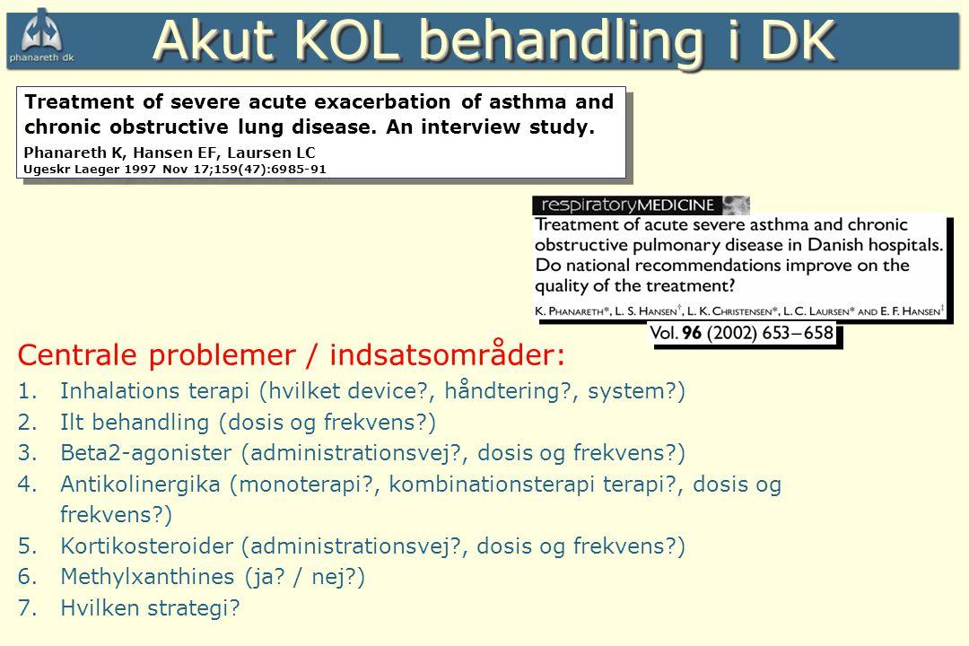 Akut KOL behandling i DK