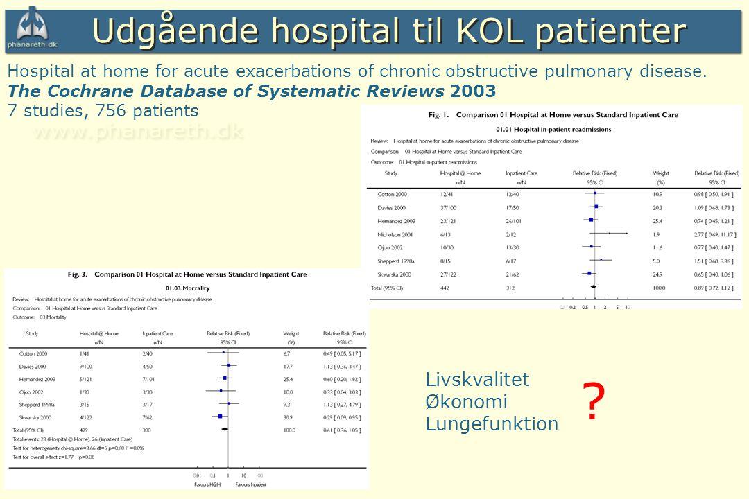 Udgående hospital til KOL patienter Livskvalitet Økonomi