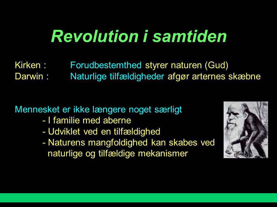 Revolution i samtiden Kirken : Forudbestemthed styrer naturen (Gud)