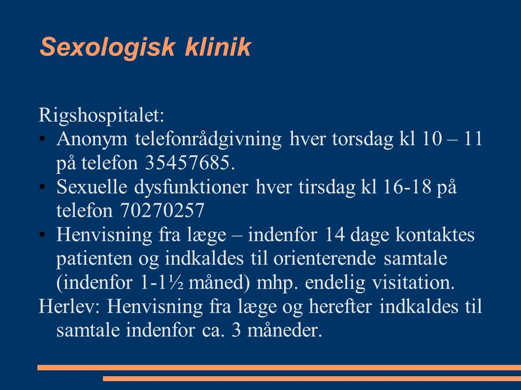 Sexologisk klinik Rigshospitalet: