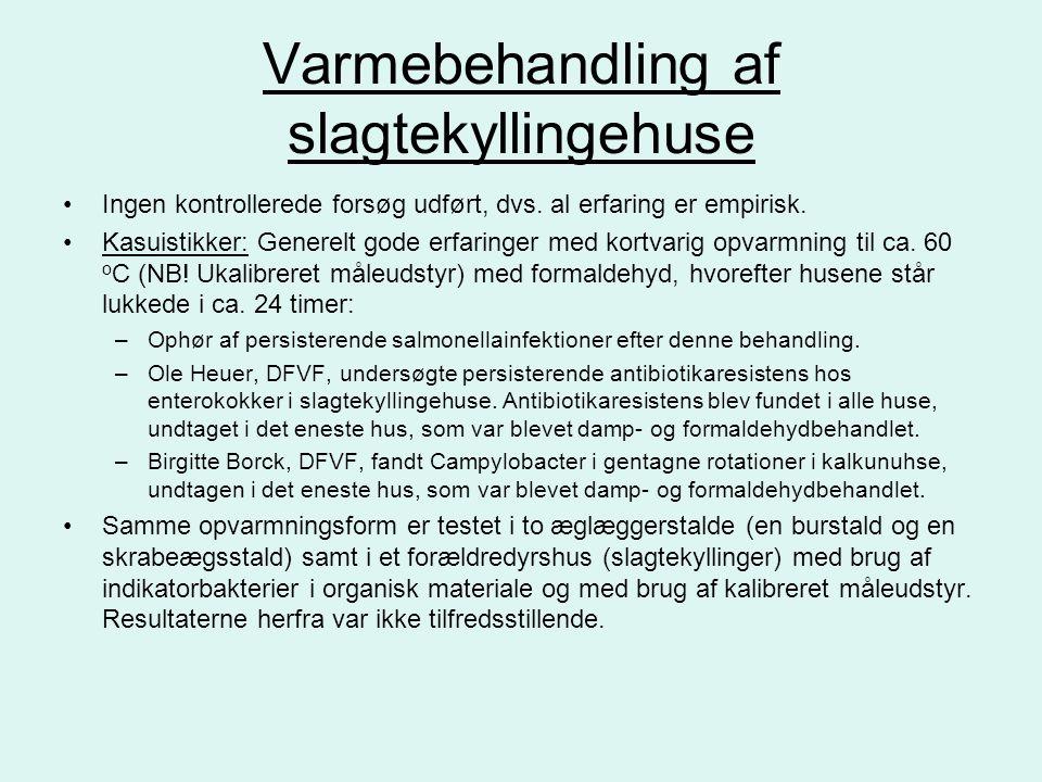Varmebehandling af slagtekyllingehuse