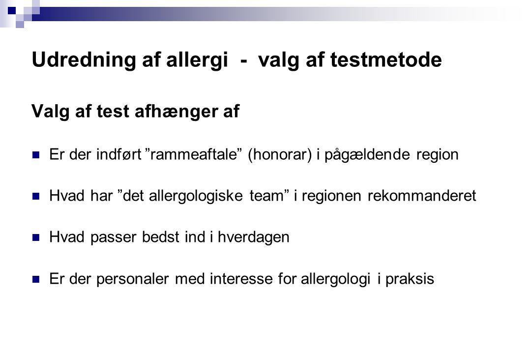 Udredning af allergi - valg af testmetode