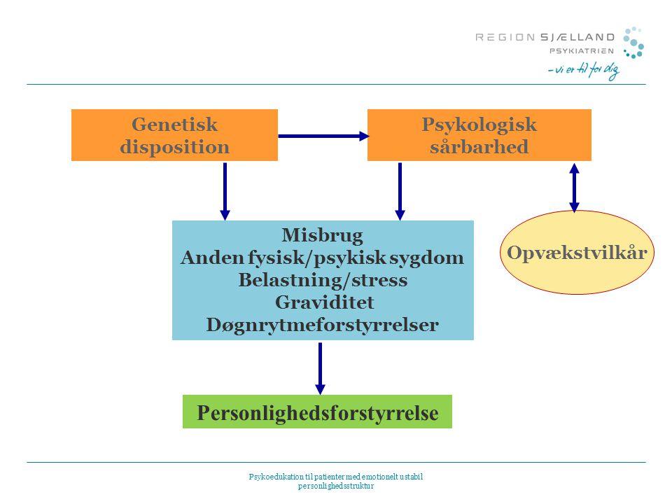 Tema 1: Værkstøjskasse med supplerende slides Psykoedukation til patienter med emotionelt ...